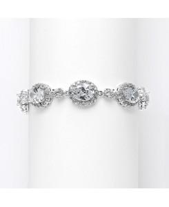 Spectacular Cubic Zirconia Ovals Wedding Bracelet