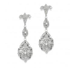 Opulent Vintage Cubic Zirconia Wedding Earrings