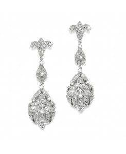 Opulent Vintage Cubic Zirconia Wedding Earrings
