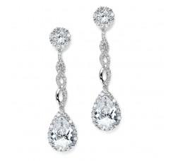 Opulent Cubic Zirconia Wedding Earrings