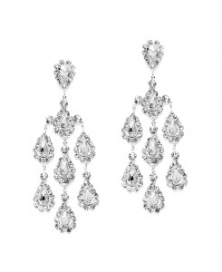 Dramatic Crystal Rhinestone Chandelier Earrings