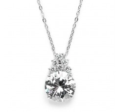 Bold CZ Bridal or Bridesmaid Necklace Pendant
