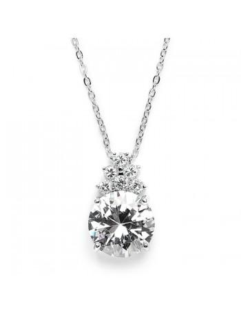 Bold CZ Bridal or Bridesmaid Necklace Pendant