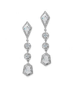 Empress & Noble Cut Cubic Zirconia Bridal Earrings