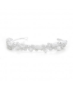 Child's White/Silver  Floral Headband or Tiara
