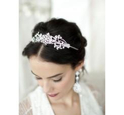 Popular Crystal Wedding Headband or Tiara with Vintage Art Deco Floral Design