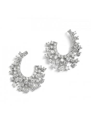 Sparklling Cubic Zirconia Spray Earrings for Weddings or Mothers of the Bride