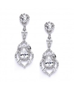 Best Selling Cubic Zirconia Dangle Wedding or Prom Earrings