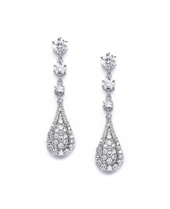 Cubic Zirconia Prom or Wedding Dangle Earrings