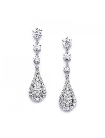 Cubic Zirconia Prom or Wedding Dangle Earrings