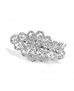 Dazzling Crystal Swirls Bridal or Prom Hair Comb
