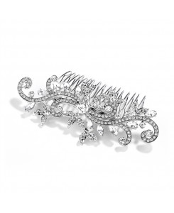 Popular Wedding or Prom Hair Comb with Pave Crystal Vines
