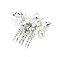Crystal and Pearl Hand-Made Wedding Hair Comb