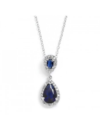 Top-Selling Sapphire Cubic Zirconia Teardrop Wedding Pendant