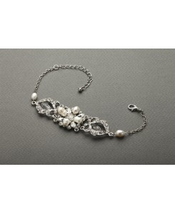 Top-Selling Freshwater Pearl & Crystal Wedding Bracelet