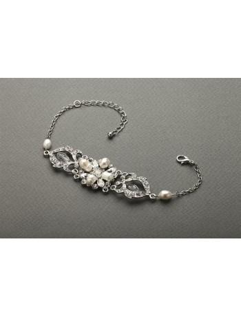 Top-Selling Freshwater Pearl & Crystal Wedding Bracelet