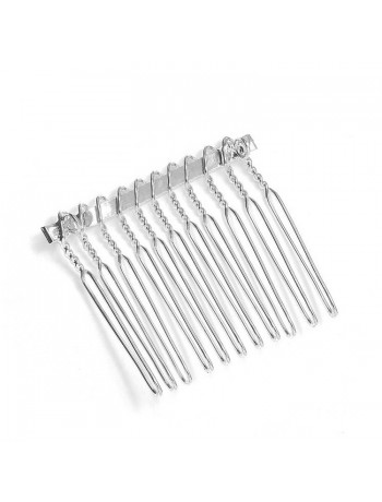 Silver Comb Adapter for Brooches - 1 1/2