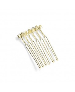 Gold Comb Adapter for Brooches - 3/4