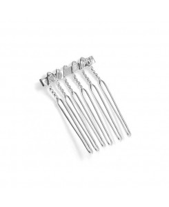 Silver Comb Adapter for Brooches - 3/4