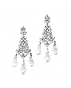 Crystal Teardrop Vintage Chandelier Earrings for Weddings, Proms or Bridesmaid