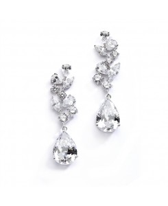 Magnificent Cubic Zirconia Red Carpet Dangle Wedding Earrings
