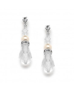 Crystal Teardrop Wedding, Prom or Bridesmaids Earrings