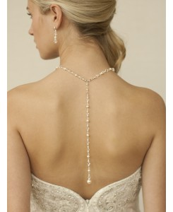 Top Selling Pearl & Crystal Back Necklace for Weddings & Proms