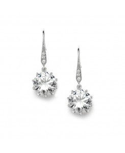 Bridal, Prom or Bridesmaids Bling CZ Drop Earrings
