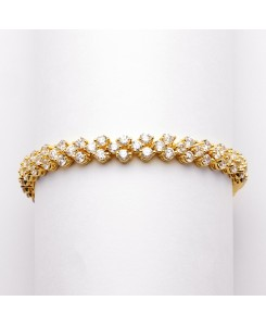 Petite Gold Cubic Zirconia Wedding or Prom Tennis Bracelet