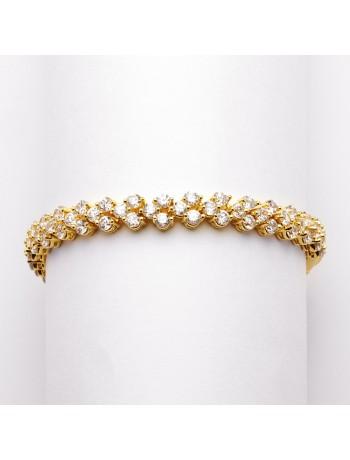 Petite Gold Cubic Zirconia Wedding or Prom Tennis Bracelet