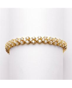 Elegant Gold Cubic Zirconia Wedding or Prom Tennis Bracelet