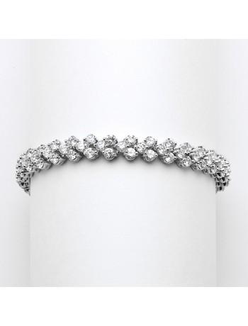 Petite Cubic Zirconia Wedding or Prom Tennis Bracelet