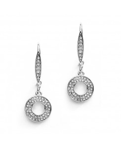 Abstract French Wire Pave Earrings for Bridal or Prom