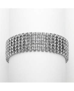 Petite Size 6-Row Rhinestone Prom or Homecoming Bracelet
