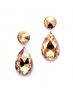 Color Splash Pear-shaped Drop Earrings - Golden Beige
