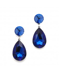 Color Splash Pear-shaped Drop Earrings - Royal