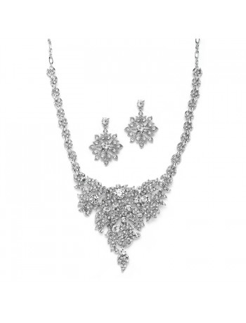 Top Selling Crystal Statement Necklace Set for Weddings