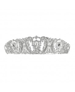 Retro Chic Vintage Wedding Tiara with Pave Crystals