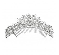 Spectacular Crystal Art Deco Wedding or Prom Tiara Comb