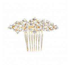 Best Selling Crystal Clusters Gold Wedding or Prom Comb