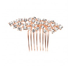 Best Selling Crystal Clusters Rose Gold Wedding or Prom Comb