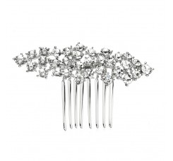 Best Selling Crystal Clusters Silver Wedding or Prom Comb