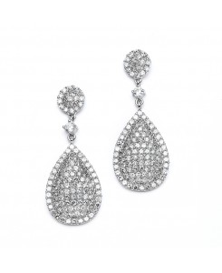 Luxurious Pave CZ Wedding Earrings