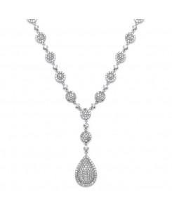 Luxurious Pave CZ Wedding Necklace
