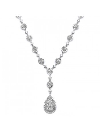 Luxurious Pave CZ Wedding Necklace