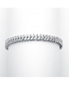 Red Carpet Double Marquis CZ Wedding Bracelet
