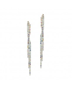 Popular Dangling AB Rhinestone Prom Earrings with Graceful Twist