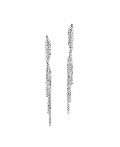 Popular Dangling Rhinestone Prom Earrings with Graceful Twist