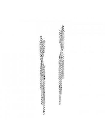 Popular Dangling Rhinestone Prom Earrings with Graceful Twist