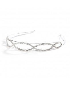Unique Open Braid Rhinestone Prom Headband